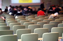 Empty seats in lecture hall (iStockphoto)