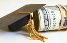 Graduation cap and money
